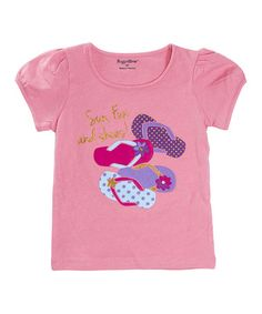 Love this Pink Flip-Flop Tee - Infant & Toddler by Rugged Bear on #zulily! #zulilyfinds