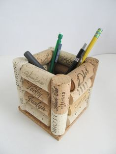 This looks like a clever gift to craft using your wine corks and your glue gun. Photo found here . Christmas is two months from today so you...