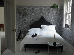 Inferno King Size upholstered bed on legs in brushed linen cotton Midnight Blue £845  http://www.sofa.com/shop/beds/upholstered-beds/inferno#230-BLCMID-0-0