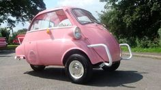 Pink bubble car from the 60s | funny cars | Pinterest | Bmw Isetta ...