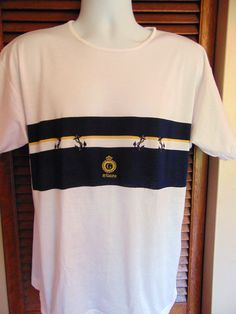 FILO SCOZIA Italy Gianini Womens Pure Cotton Designer Boating T Shirt Size XL