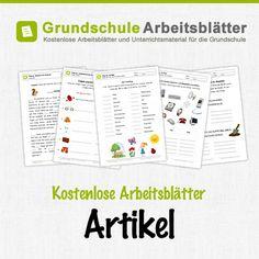 Kostenlose Arbeitsblätter und Unterrichtsmaterial für den Deutsch-Unterricht zum Thema Artikel in der Grundschule.
