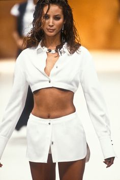 Christy Turlington walked for Rifat Ozbek RTW S/S 1994