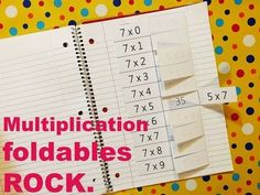 Times Table Foldables are way more fun than multiplication flashcards! (PLUS, there is no chance of losing a flashcard with these!) Help kids master multiplication facts. Check 'em out here: https://www.teacherspayteachers.com/Product/Multiplication-Foldables-Math-flashcards-showing-commutative-property-1519425