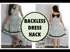 BACKLESS DRESS HACK, Sewing project for beginners - YouTube