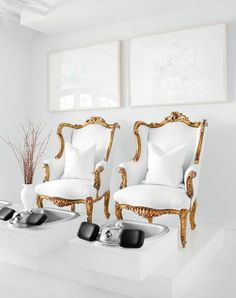 chairs in Atlanta Spa Sentio day spa...I would go for a pedicure every day!