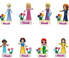 (Lis) Friends Series Building Blocks Princess Figures Compatible with legoINGlys Friends For Girl 8pcs Lepine Bricks Toys