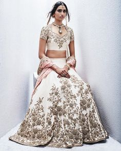 India Emporium is a one stop ethnic wear online store for all your online saree shopping, designer wear, salwar kameez, bridal wear, lehenga cholis & artificial jewellery needs. Indian Lehenga, Gold Lehenga, Lehenga Choli, Anarkali, Lehenga White, Pakistani, Sari, Indian Wedding Outfits, Bridal Outfits