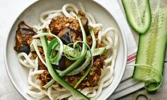 Yotam Ottolenghi's udon noodles with miso and walnuts recipe