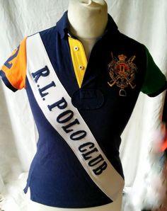 Ralph Lauren Polo Club Challenge cup Women's Cotton Polo Shirt Size S #RalphLauren #PoloShirt