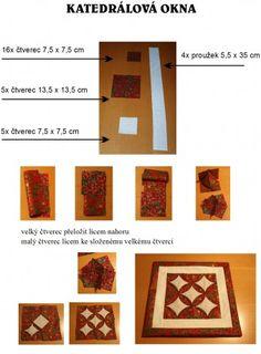 Patchwork = barevná geometrie - Fotoalbum - Návody - Katedrálová okna