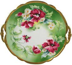 One Kings Lane Vintage Limoges Floral Plate