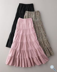 Long Voile Peasant Skirt  clearance   $39