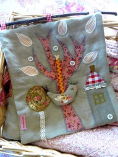 Quilting cloth book ideas. Great use of pretty scraps and lace