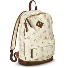 Mossimo Supply Co. Cat Backpack Handbag Ivory ❤ liked on Polyvore featuring bags, backpacks, travel backpack, mossimo backpack, backpack tote, mossimo and handbag tote