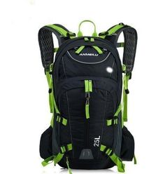 Premium Quality 25L Lightweight Durable Waterproof Sport Camping Hiking Backpack w/Helmet Net & Water Bottle 5 Colors