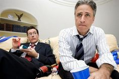 Stephen Colbert and Jon Stewart. Together or separately, anything goes.