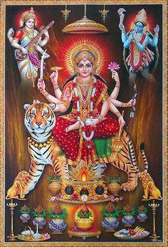 """DURGA MAA, Kali Saraswati Mata - POSTER (Big Size 20""""x30"""")"""