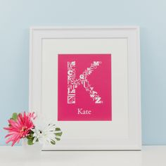 """Choose a colour, personalize it, and make it your own! """"Alphabet Initial Prints"""" by Simple Sugar Design Great Christmas Gifts, Holiday, Simple Sugar, Upper And Lowercase Letters, Learning Tools, Kids Bedroom, Gifts For Kids, Alphabet, Initials"""