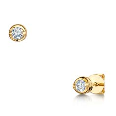 For the Bride - Laings 18ct Yellow Gold 0.33ct Brilliant Cut Diamond Earrings