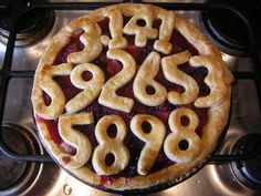 OK Pi is probably not your thing.... but it is cute.  It would also be cute with significant dates for a wedding, names of family members, or other events.  @Beeda