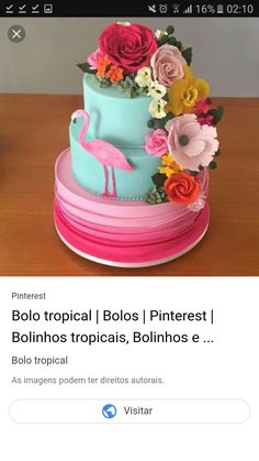 Bolo Fake, Food And Drink, Amelia, Cake, Party, Desserts, Hawaii, Pink, Ideas