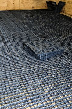 The Stall Grid flooring system is great for horse walkers, paddock areas, round pens, and indoor/outdoor arenas! Having this system installed can lead to improvements in your horse(s)'s health with the Stall Grid's shock absorbing technology. Horse Stalls, Horse Barns, Horses, Horse Horse, Horse Paddock, Horse Shelter, Horse Barn Plans, Horse Fencing, Charro