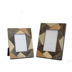 Photo Frames : Mango Wood Photo Frames Matching Set 4x6 and 3x5