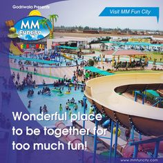 Wonderful place to be together for too much fun! Visit #MMFunCity. For More: https://goo.gl/Su9dWZ #Waterpark #Family #Friends #Enjoy #Raipur