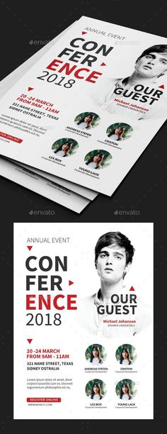 Buy Business Conference Flyer by Comodensis on GraphicRiver. Event Poster Design, Creative Poster Design, Graphic Design Posters, Event Design, Flugblatt Design, Leaflet Design, Flyer Design Inspiration, Workshop Design, Business Card Psd