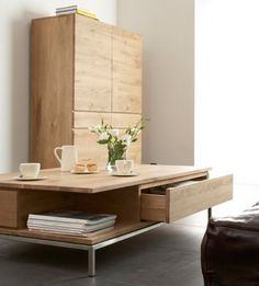 Shop Oak Ligna coffee table, by Ethnicraft http://www.internistore.com/table/oak-ligna.product