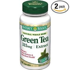 Nature's Bounty Green Tea Extract, 315mg, 100 Capsules (Pack of 2) - http://bhealthydiet.com/natures-bounty-green-tea-extract-315mg-100-capsules-pack-of-2/