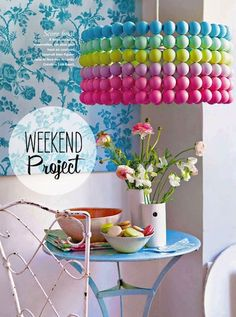 A lampshade from ping pong balls - I want to make this!