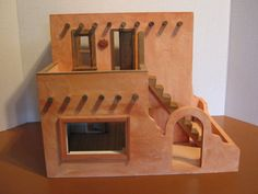 Half Inch Scale Pueblo Cafe with Living by MyFavoriteDollhouse