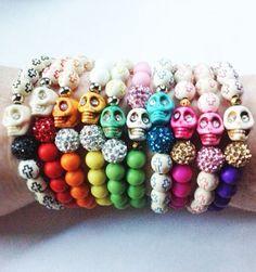 Skull Bracelets! Skulls skulls skulls!