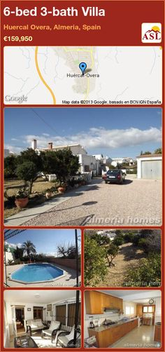 6-bed 3-bath Villa in Huercal Overa, Almeria, Spain ►€159,950 #PropertyForSaleInSpain