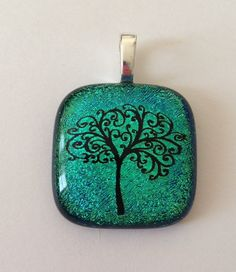 Tree of Life pendant with swirling branches by addicted2glassfusion, $20.00
