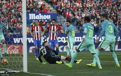 Messi turned home a rebound to  give Barcelona all three points at the Vicente Calderon after working space in the box