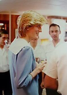 27 June 1983 Diana onboard Britannia during the royal tour of Canada