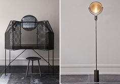 || Kevin Josias & Faye Toogood | Oliver Gustav Studio . Desk with a perforated mesh