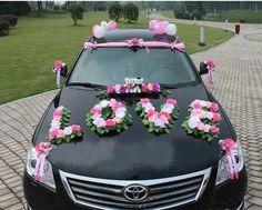 Bridal car decor - Decoration World Wedding Car Decorations, Flower Decorations, Bear Wedding, Wedding Day, Wedding House, Bridal Car, Wedding Transportation, Romantic Gestures, Cars Birthday Parties