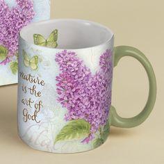 Botanical Inspiration Lilac Coffee Mug , 5021036 | Lang