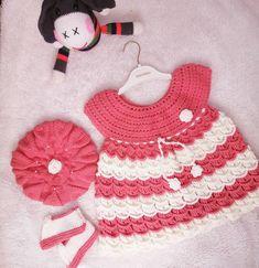 Baby Dresses, Crochet Baby, Crochet Necklace, Instagram, Fashion, Moda, Fashion Styles, Baby Dress, Crochet For Baby