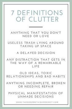 What Exactly is Clutter? 7 Definitions to Ponder — The Do Something Project What Exactly is Clutter? 7 Definitions to Ponder — The Do Something Project