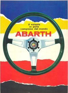Fiat Abarth steering wheel advertising