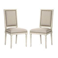 Square Back Louis Side Chairs Design