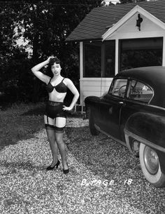 These vintage photos of legendary pinup girl Bettie Page were nearly destroyed