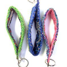 New to pidgepidge on Etsy: San Juan | Modern Keychain Set of 3 | Gift Trio of Woven Key Fob Wristlets | Handwoven Key Fob Bundle | Ombre Chevron Textile Key Chains