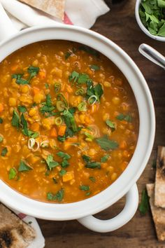 Curry Split Pea Soup with Carrots