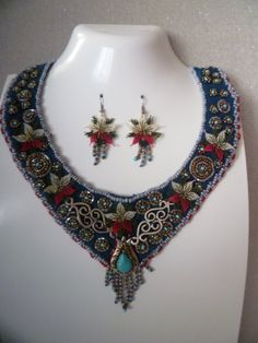 Suede Necklace Set by KamuranDesigns on Etsy, $60.00